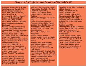 Directors On Projects Lena Banks Has Worked On (2)